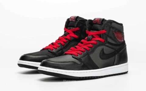 "Air Jordan 1"" Black Satin""最新实物图释出!将于明年1月18日发售! 货号:555088-060"