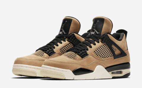 """Air Jordan 4 """"Mushroom""""官图释出!来一双""""珍珠奶茶""""鞋吗? 货号:AQ9129-200"""