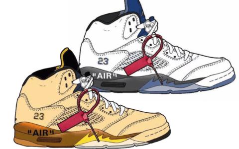 Off-White x Air Jordan 5联名即将来袭!准备好掏空钱包了吗?