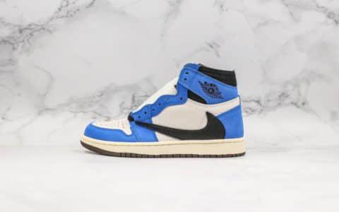 乔丹Air Jordan 1 Retro High OG纯原版本蓝色倒钩高帮实战篮球鞋 货号:CD4487-102