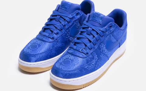 蓝丝绸 CLOT x Nike Air Force 1敲定发售日期!千万不要记错! 货号:CJ5290-400