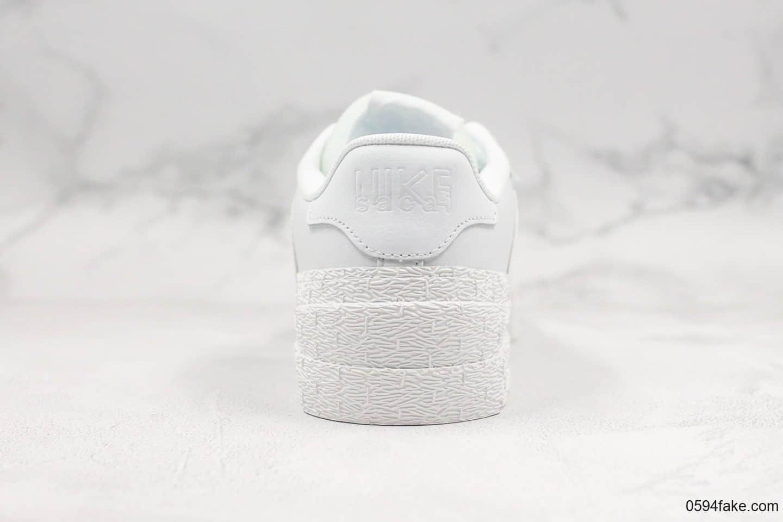 耐克Nike Blazer High Black University Blue公司级版本SACAI联名款重叠设计前卫开拓者低帮百搭板鞋