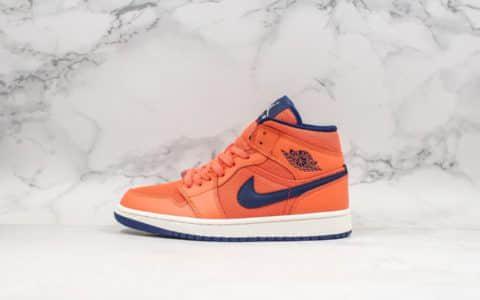 乔丹Air Jordan 1 Mid Releasing in Turf Orange珊瑚橙中帮AJ1纯原版本内置气垫搭载鞋面网眼透气 货号:CD7240-804