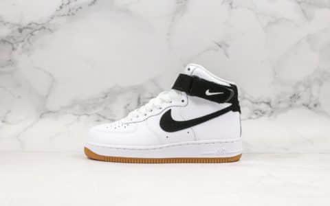 耐克Nike AIR Force 1 High White Gum公司级版本高帮空军一号黑白生胶色高帮系列潮流休闲板鞋 货号:AT7653-100