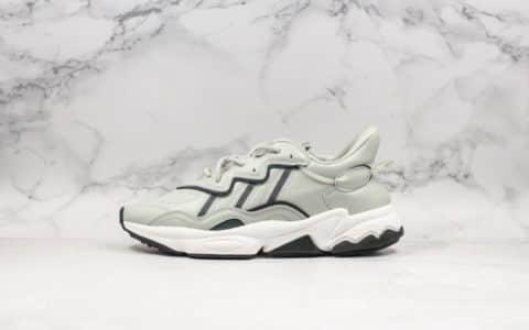 阿迪达斯Adidas Ozweego adiprene公司级版本水管老爹鞋皮面款3M反光鞋面复古运动老爹鞋 货号:EE7005