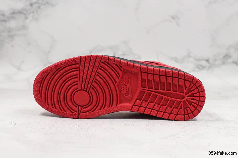 乔丹Air Jordan 1 Retro '97纯原版本中帮猫眼AJ1红色原厂内置气垫原盒原标鞋开模 货号:555071-661