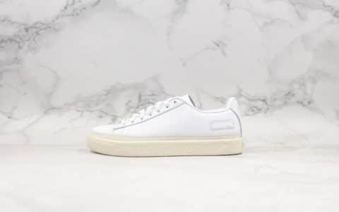 彪马Puma Basket Trim全新首发小白鞋纯原版本原装全头层牛皮搭配海玻璃鞋垫 货号:368387-01