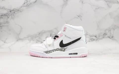 乔丹Air Jordan Legacy 312纯原版本高帮AJ312白粉樱花白配色乔丹最强三合一实战篮球鞋 货号:AT4040-106