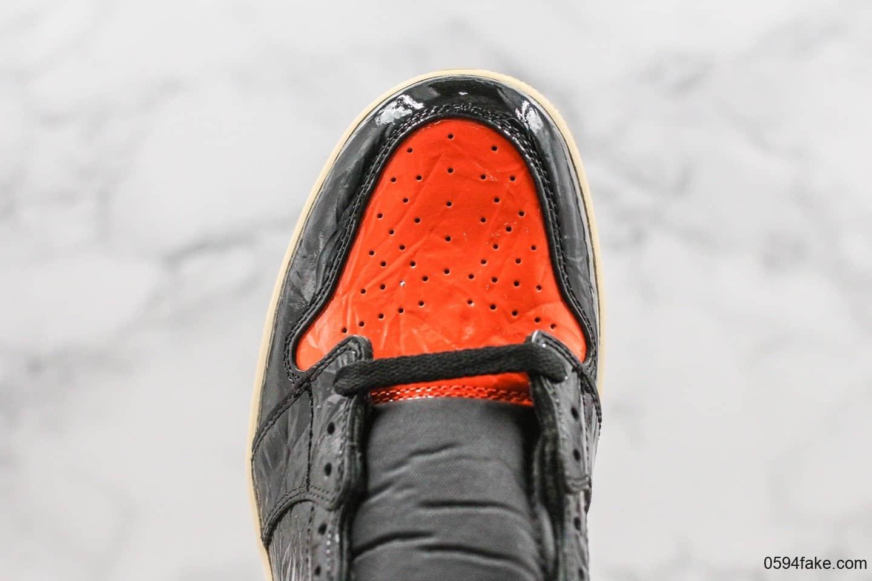 乔丹Air Jordan 1 Retro Obsidian纯原版本AJ1猪油扣碎3.0原厂鞋盒原厂防尘纸原盒原标最高QC检验 货号:555088-028