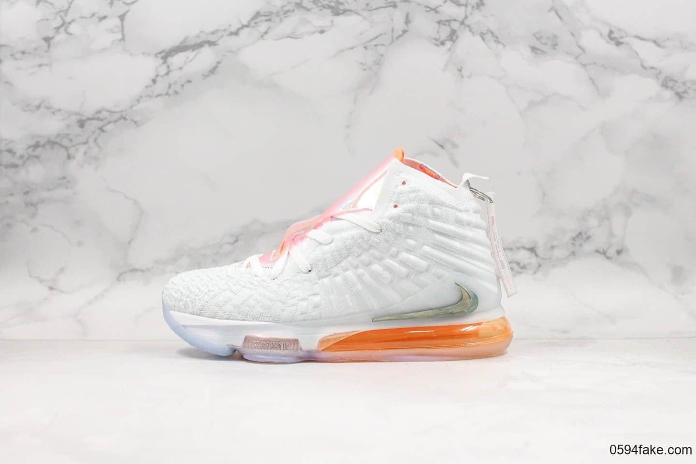 耐克Nike LeBron XVII詹姆斯17实战篮球鞋纯原版本原厂科技鞋面原厂缓震搭载高科技纤维气垫 货号:CT3853-100