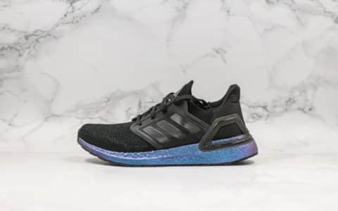 阿迪达斯Adidas UltraBoost纯原版本2019新款UB6.0黑紫色后跟镂空TPU支架搭配Primeknit360科技爆米花跑鞋 货号:EG1341