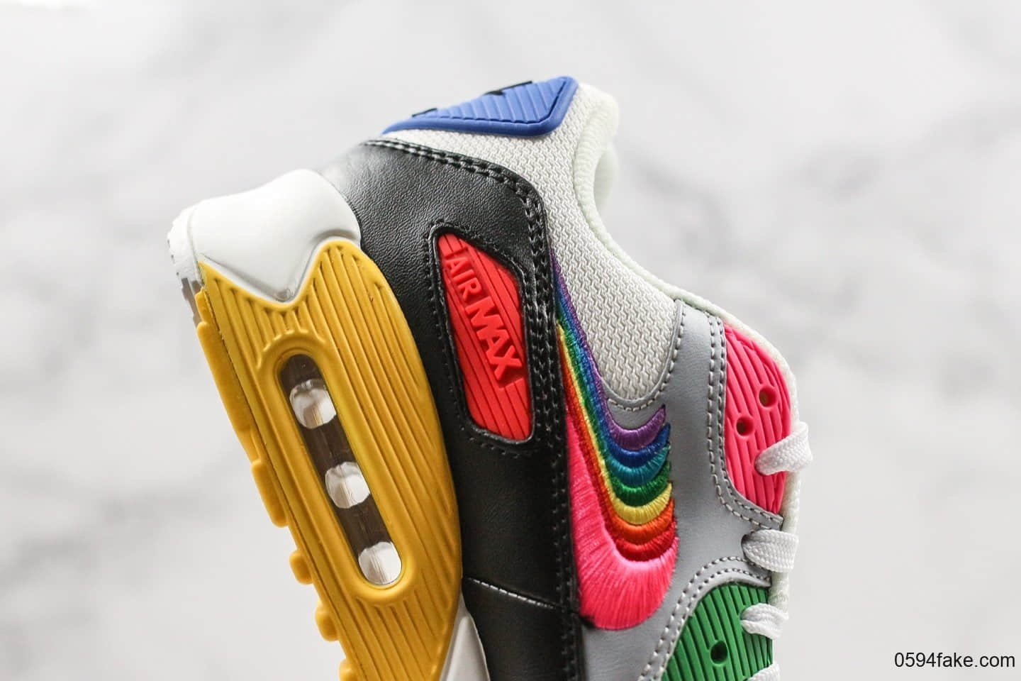 wholesale price new arrive buying now nike - basket - homme - air max 90 essential 74 - noir rouge ...