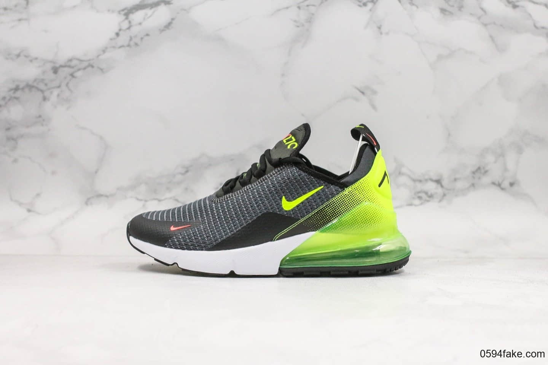 耐克Nike Air Max 270网面半掌气垫跑步鞋黑灰