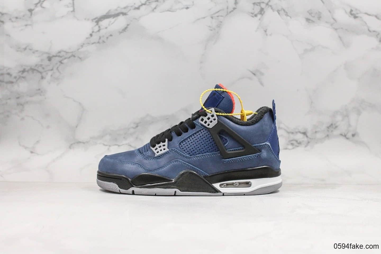 乔丹Air Jordan 4 WNTR Loyal Blue纯原版本午夜蓝配色aj4原档案数据开发原厂鞋面用料