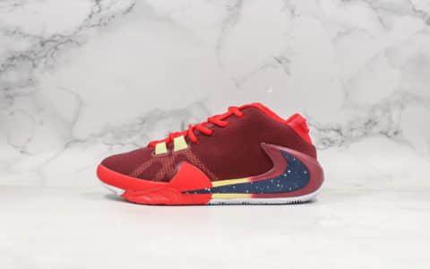 耐克Nike Zoom Freak 1 GPX纯原版本字母哥一代签名款倒钩星空红市面唯一原鞋开模后掌真双层ZOOM气垫 货号:BQ5422-601