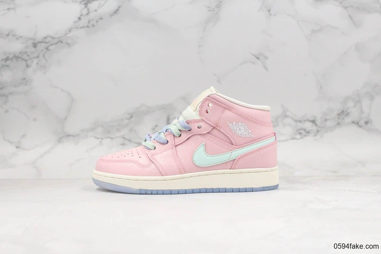 乔丹Nike Wmns Air Jordan 1 Ret Hi Prem纯原版本荧光粉AJ1反光乔1粉色满天星原鞋开模区