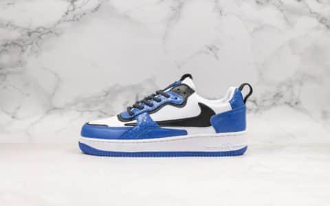 耐克Nike Air Force 1 AC纯原版本低帮空军一号倒勾联名限定蓝色官方同步抽屉原盒原楦头原纸板打造内置全掌气垫
