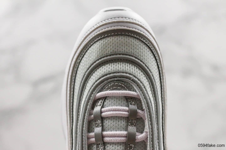 耐克Nike Air Max 97 Reflect Silver纯原版本3M反光银灰子弹气垫鞋原底原面小潘气垫正确版型 货号:921826-105