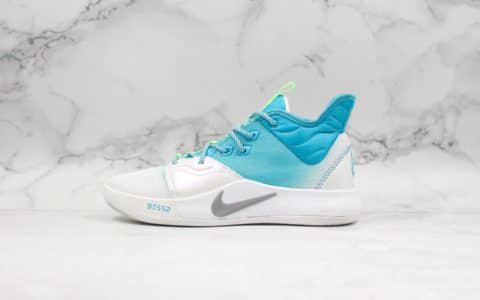 耐克Nike PG3 EP纯原版本保罗乔治三代路亚白蓝假饵钓鱼男子实战篮球鞋前掌ZOOM气垫 货号:AO2608-005