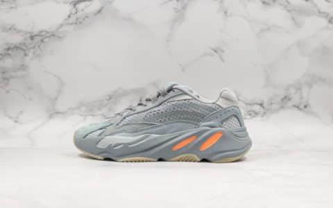 阿迪达斯Adidas Originals YEEZY BOOST 700V2 Inertia纯原版本复古爆米花中底老爹鞋慢跑鞋新惯性硅蓝橘3M反光设计 货号:FW2549