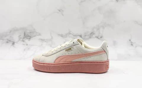 彪马PUMA Basket Platform纯原版本蕾哈娜二代简版区别市面节约成本绿色鞋垫采用ZP一致PR大底