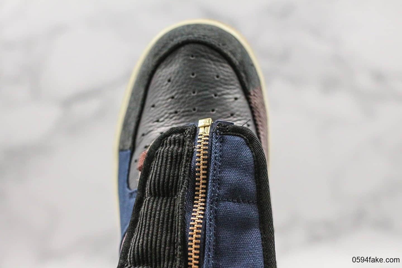 耐克Nike Air Force 1 Low ts x Travis Scott空军一号超限量联名款客供原厂灯芯绒无色差材料原模大底内置全掌气垫 货号:CN2405-900