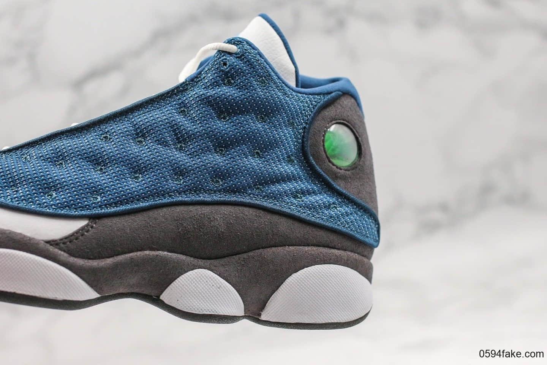 乔丹Air Jordan 13「Flint」AJ13海军蓝纯原版本回归款鞋底真碳板加持中底内置气垫原数据匹配色卡 货号:414571-401
