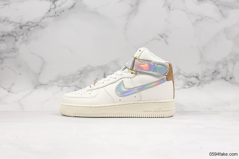 耐克Nike Air Force 1 High Nai Ke THE BUND Jester纯原版本空军一号高帮镭射上海限定顶级