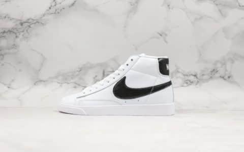 耐克Nike Blazer Mid Vintage Suede公司级版本皮面开拓者内置air zoom气垫高帮板鞋 货号:917862-111