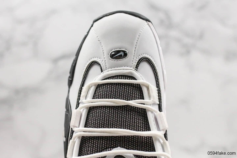 耐克Nike Air Max Penny便士哈达威篮球鞋全新黑白配色纯原版本回归复刻篮球鞋 货号:315519-101