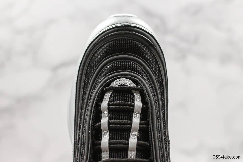 耐克Nike Air Max 97 QS Metallic Pack纯原版本重金属复古气垫百搭休闲运动慢跑鞋银黑红子弹男女鞋最高品质正确细节版本 货号:AT5458-001