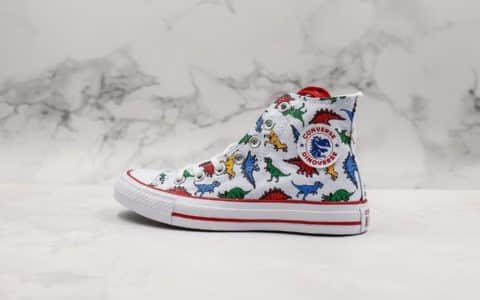 匡威CONVERSE ALL STAR 100 WOOLCHECK 百年经典款侏罗纪世纪白红恐龙高帮帆布鞋公司级原厂代工铝楦开发