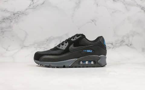耐克Nike Air Max 90 Essential纯原版本max90复古气垫运动慢跑鞋黑蓝色内置可视气垫皮革鞋面 货号:CN0194-001