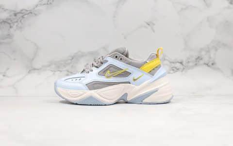 耐克Nike M2K Tekno 'Pink Foam纯原版本灰浅蓝m2k老爹鞋青岛原厂发泡技术愿档案数据开发 货号:AO3108-403