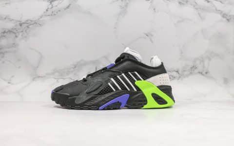 阿迪达斯Adidas streetball纯原版本街头风格小椰子700复古老爹鞋鞋面采用大面积荔枝皮搭配麂皮材质原档案数据开发 货号:EG2995