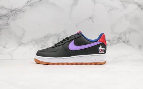 耐克Nike Air Force 1 '07 LE Shibuya公司级版本涩谷限定配色空军一号葡萄色内置气垫原楦头原纸板打造 货号:CQ7506-084