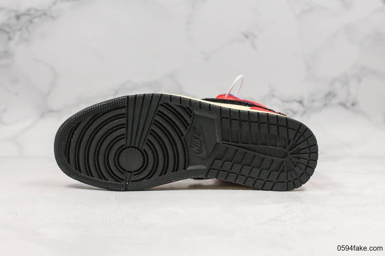 乔丹Air Jordan 1 Mid x Blue The Great纯原版本洛杉矶艺术家联名款多彩拼接AJ1篮球鞋内置气垫细节完美原档案开发打造 货号:CU2805-100