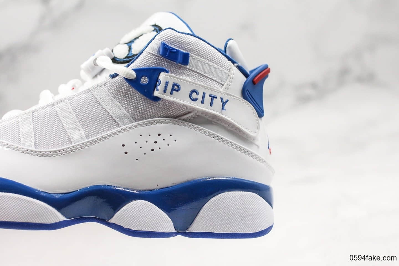 乔丹Air Jordan 6 RIngs纯原版本六冠王AJ6蓝白配色内置原厂纤维碳板中底原装猫眼实战篮球鞋 货号:322992-051