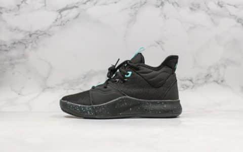 耐克Nike PG 3 Black Aqua纯原版本保罗乔治三代实战篮球鞋搭载Zoom Air缓震系统原厂鞋盒钢印 货号:AO2608-006