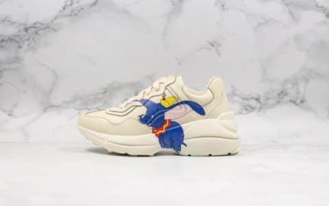 古驰Gucci Rhyton Vintage Trainer Sneaker莞产顶级纯原版本古驰老爹鞋小飞象配色原鞋开模原档案数据开发全套配件