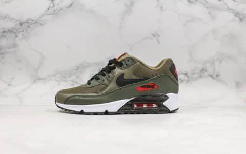 耐克Nike Air Max 90 Essential公司级版本复古max90气垫鞋黑绿配色内置可视气垫搭配菱纹塑胶嵌板 货号:AJ1285-205