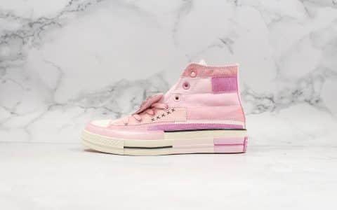 匡威Converse x Mille Bobby Brown公司级版本联名款粉色爱心高帮全新配色出货细节可随意对比原盒原标