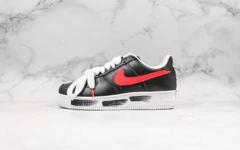 耐克Nike Air Force 1 x PEACEMINUSONE权志龙联名款空军一号小雏菊红勾配色原厂原盒配件齐全 货号:AQ3692-002