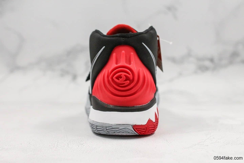 耐克Nike Kyrie 6 EP纯原版本欧文6代全新黑红配色原厂内置气垫只是高强度实战 货号:BQ4631-002