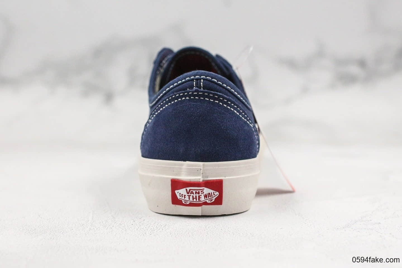 万斯Vans Style 36 Cecon SF公司级版本深蓝白19年新版翻盖鞋盒权志龙同款原厂硫化杀人鲸半月包头复古硫化板鞋
