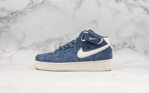 耐克Nike Air Force 1 Mid 07纯原版本3M反光空军一号深蓝色内置全掌气垫原鞋开模一比一打造 货号:AA1118-007