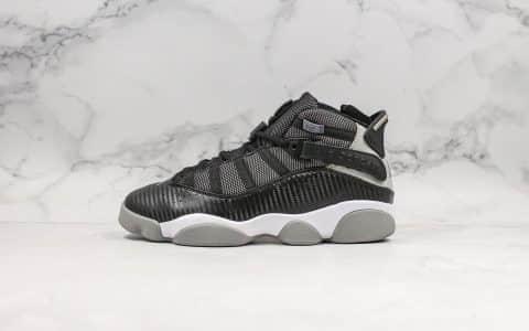 乔丹Air Jordan 6 rings Phoenix纯原版本六冠王AJ6系列黑色原鞋开模一比一打造原档案数据开发实战篮球鞋 货号:322992-004
