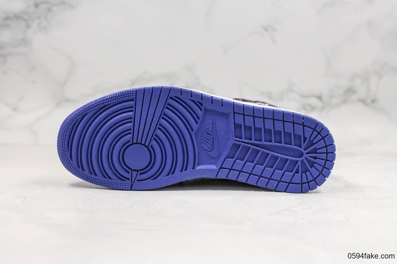 乔丹Air Jordan 1 Mid公司级版本中帮aj1虎纹配色原厂3D针织工艺天猫外贸客户指定版本 货号:AV5174-005