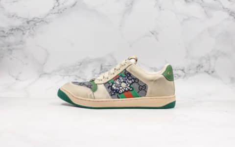 古驰Gucci 2019做旧花盒子猪年限定小猪纯原版本余文乐上脚经典原型复古百搭做旧老爹鞋