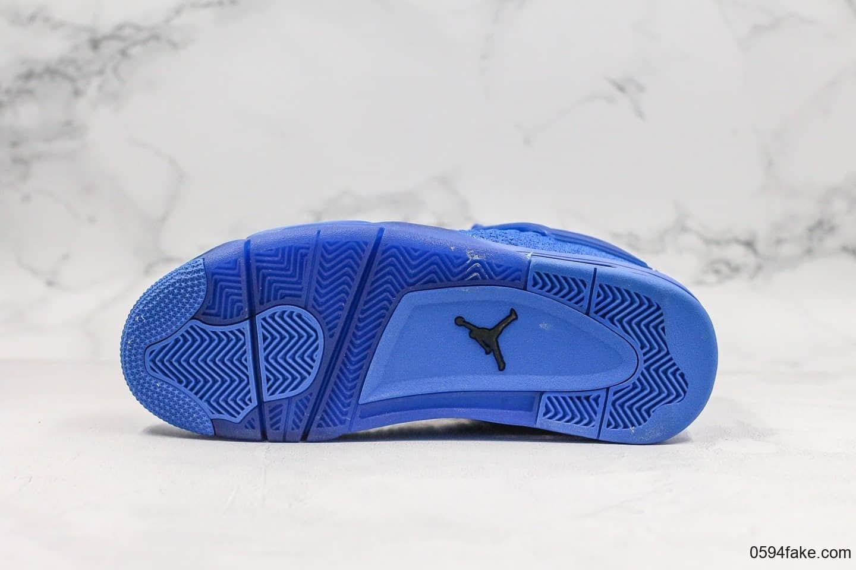 乔丹Air Jordan 4 Flyknit Hyper Royal纯原版本果冻编织蓝AJ4全Flyknit鞋面原档案数据开发区别市面通货版本 货号:AQ3559-400